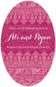 Henna wedding beer labels