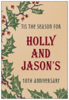 Holly Rustic tall rectangle labels