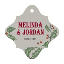 Holly Rustic fancy diamond hang tags
