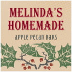 Holly Rustic square labels