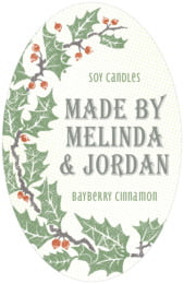 Holly Rustic tall oval labels