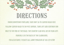 custom enclosure cards - green - holly rustic (set of 10)