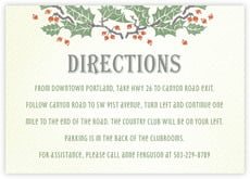 Holly Rustic enclosure cards
