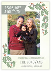 Holly Rustic photo cards - vertical