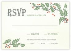 Holly Rustic response cards
