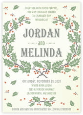 Holly Rustic invitations