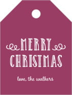Holiday Flourish Small Luggage Tag In Burgundy