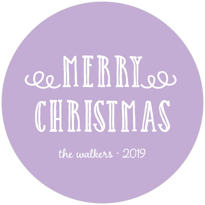 round holiday coasters - lilac - holiday flourish (set of 12)