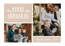 holiday cards - mocha - holiday flourish (set of 10)