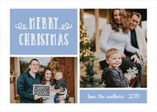 holiday cards - serenity - holiday flourish (set of 10)