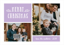 holiday cards - lilac - holiday flourish (set of 10)