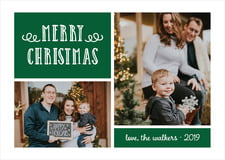 holiday cards - deep green - holiday flourish (set of 10)