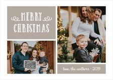holiday cards - warm grey - holiday flourish (set of 10)