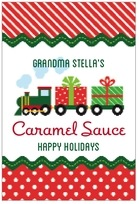 Holiday Express tall rectangle labels