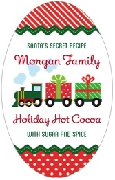 Holiday Express tall oval labels