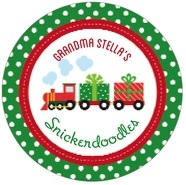 Holiday Express large circle labels