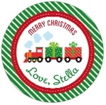 Holiday Express circle labels
