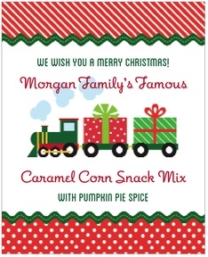 Holiday Express large labels