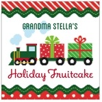 Holiday Express square labels