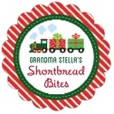 Holiday Express scallop labels
