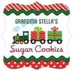 Holiday Express fancy square labels