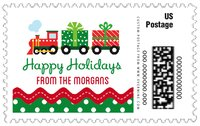 Holiday Express large postage stamps