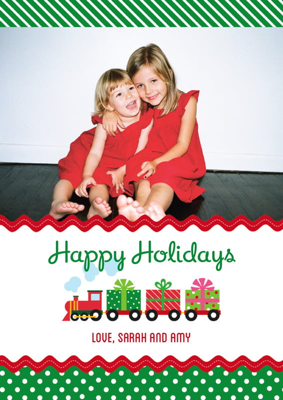 holiday cards - deep green - holiday express (set of 10)