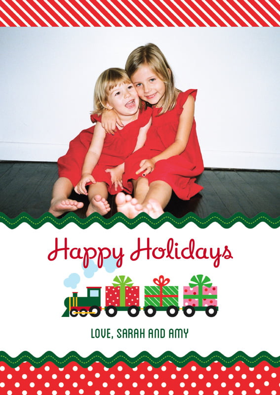 holiday cards - deep red - holiday express (set of 10)