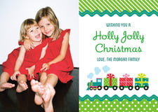 holiday cards - green - holiday express (set of 10)