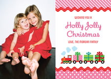 holiday cards - bright pink - holiday express (set of 10)