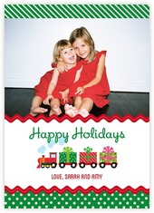 Holiday Express photo cards - vertical