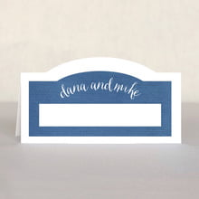 Brush Edge Place Card In Deep Blue