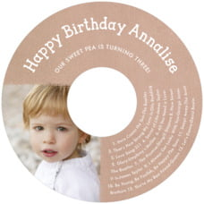 Brush Edge Cd Label In Mocha