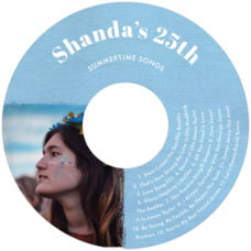 Brush Edge Cd Label In Blue