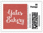 Brush Edge Small Postage Stamp In Deep Red