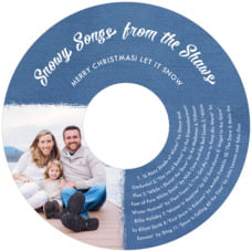 Brush Edge Cd Label In Deep Blue
