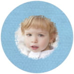 Brush Edge circle photo labels