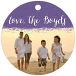 Brush Edge circle hang tags