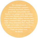 Brush Edge circle text labels