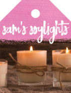 Brush Edge Small Luggage Tag In Bright Pink