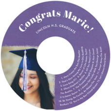 Brush Edge Cd Label In Plum