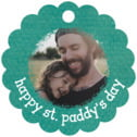 Brush Edge Scallop Hang Tag In Turquoise