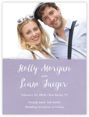 Brush Edge save the date cards
