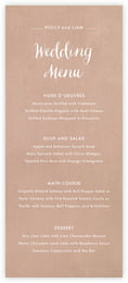 Brush Edge Menu In Mocha