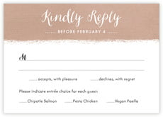 Brush Edge Response Card In Mocha