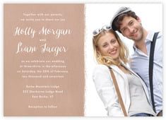 Brush Edge invitations