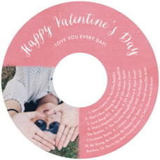 Brush Edge Cd Label In Deep Coral