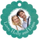 Brush Edge scallop hang tags
