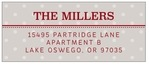Iconic Christmas Designer Address Label In Stone