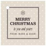 Iconic Christmas square hang tags